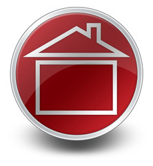 "Red Glossy Icon ""Home / Home Page / House"""