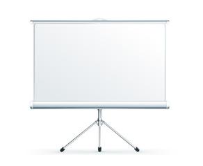 Blank Projection screen