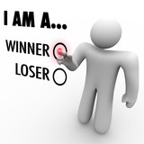 I Am a Winner vs. Loser - Choose Your Future Believe in Yourself poster