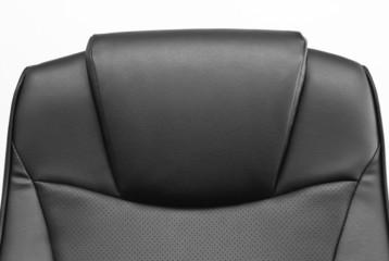 Black backrest  on the chair in office of supervisor.