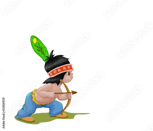 Little Indian with bow