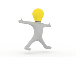 Vitruvian bulbman
