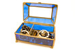 Blue glass jewelry box