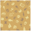 Food icons seamless pattern