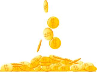 большая куча монеты, деньги