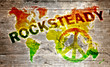 World rocksteady music concept