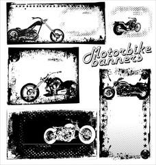 Motorbike Grunge Banners
