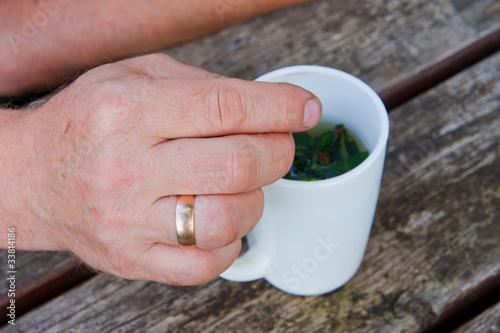 Hand elderly men