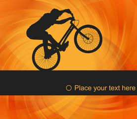 Mountain bike trial rider background illustration vector