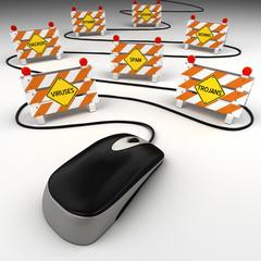 Internet security threats concept