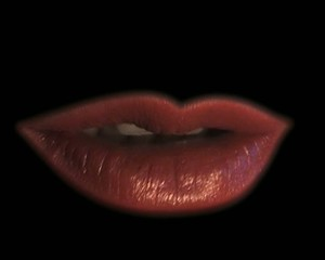 lips black background