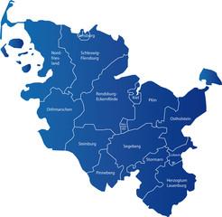 Karte Schleswig Holstein