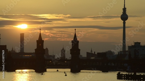 Fototapeten,berlin,spree,fernsehturm,sonnenuntergang