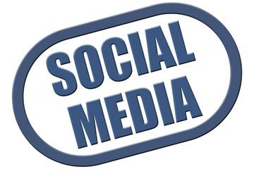 Stempel blau rel SOCIAL MEDIA