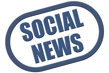 Stempel blau rel SOCIAL NEWS