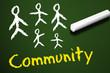 Tafel mit Community