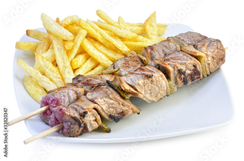 Brochetas de ternera.