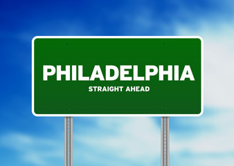 Philadelphia Highway Sign