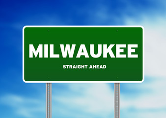 Milwaukee, Wisconsin Highway Sign