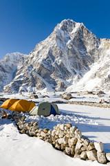 Campsite over looked by Arakam Tse
