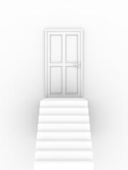 Closed door stairs