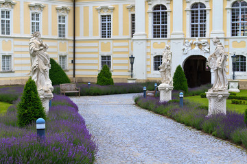 Entrance to Altenburg Baroque Abbey, Lower Austria