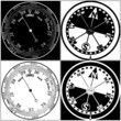 Barometer and Compass Set Vector 01