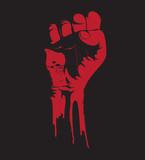Fototapeta krew - protest - Znak / Symbol