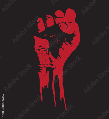 Fototapeten,faunie,hand,blut,protest