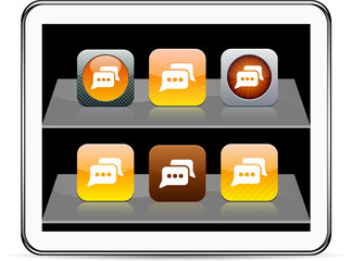 Chat orange  app icons.