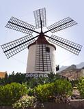 Alte Windmühle bei Mogán, Gran Canaria poster