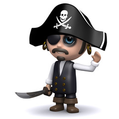 3d Pirate waves a hearty hello