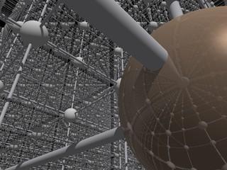 Spiegelung Netzstruktur