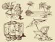 summer lounge doodles