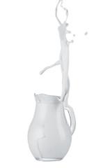 Cream splashing out of jug