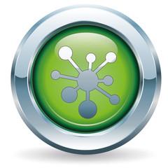Netzwerk - Button grün