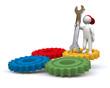 3D Man gear wheel
