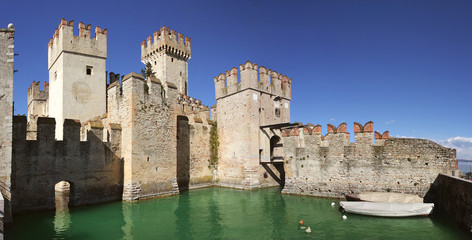 Ancient fortification in Sirmione.
