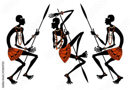 Fototapeten,afrika,leute,silhouette,vektor