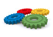 Colored gear wheels