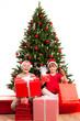 weihnachtliche bescherung