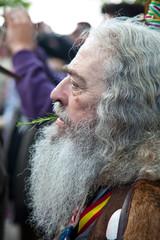 Cabello y barba del peregrino