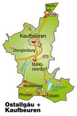 Landkreise Ostallgäu + Kaufbeuren Variante 1