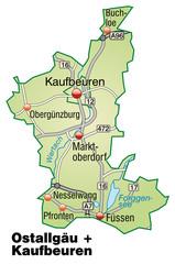 Landkreise Ostallgäu + Kaufbeuren Variante 2