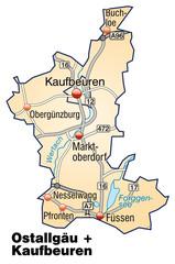 Landkreise Ostallgäu + Kaufbeuren Variante 3