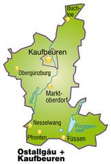 Landkreise Ostallgäu + Kaufbeuren Variante 4