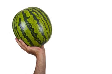 Melone und Hand