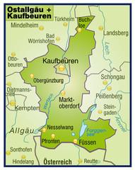 Landkreise Ostallgäu + Kaufbeuren Variante 8
