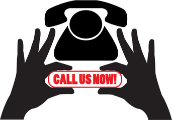 Call us now illustration - vector