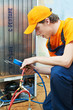 repair work on fridge appliance